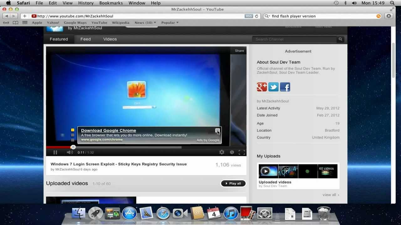 fix youtube video playback on a mac os x vmware image. Black Bedroom Furniture Sets. Home Design Ideas