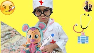 Sam Playing  doctor w/ toys Funny Video for Kids