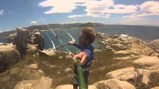 Kitesurf Naxos Greece season start 2014 One Launch Kiteboarding