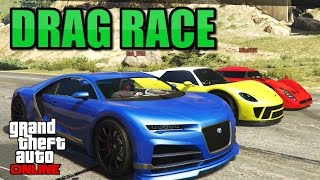 Truffade Nero vs RE-7B vs 811 Drag Race - Import/Export DLC GTA 5