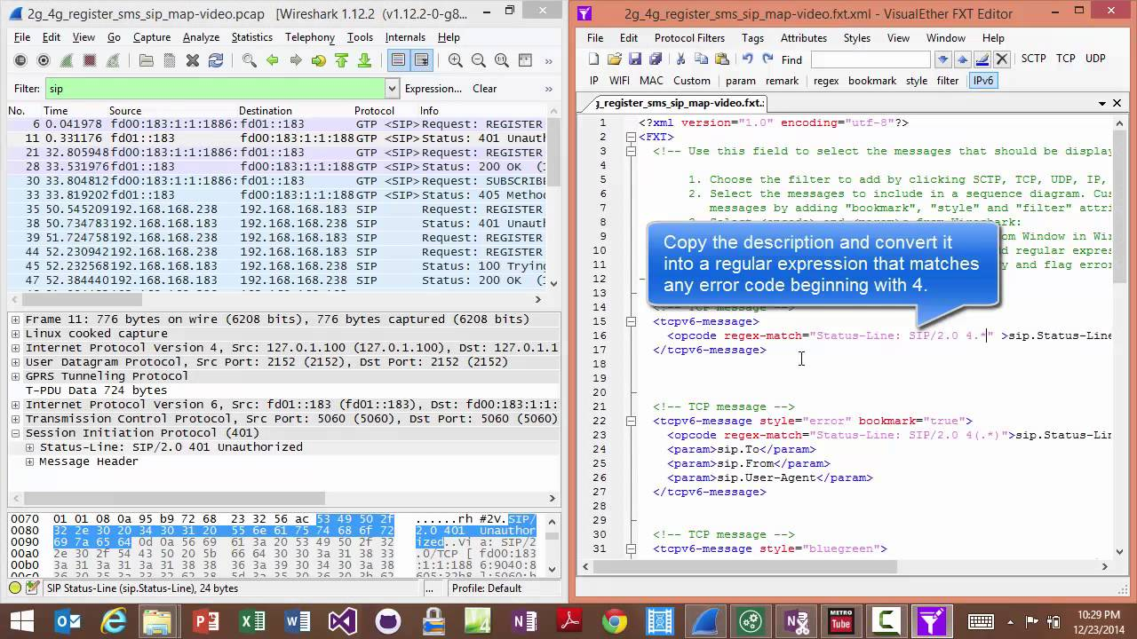 Sequence Diagrams from Wireshark PCAP | Get Started with VisualEther