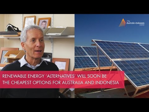 Indonesia could move rapidly to 100% renewable energy - Professor Andrew Blakers