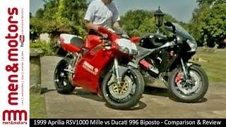 1999 Aprilia RSV1000 Mille vs Ducati 996 Biposto - Comparison & Review