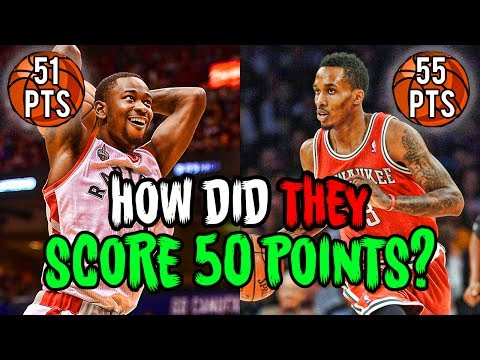The Most UNLIKELY 50 Point Games in NBA HISTORY!