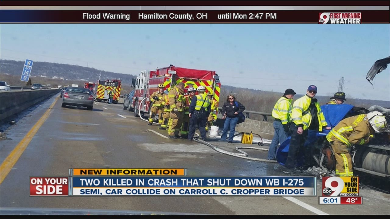2 killed in crash that shut down WB I-275 near Indiana-Kentucky for nearly  5 hours