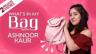 What's In My Bag With Ashnoor Kaur | Exclusive | India Forums thumbnail