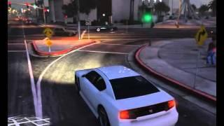 GTA 5 Travel through the city
