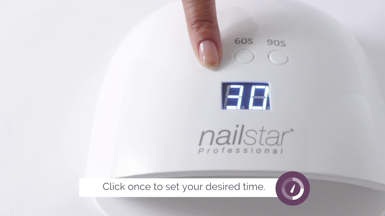 How to cure gel and shellac with the NailStar® UV/LED Nail Lamp ...