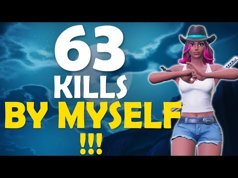 63 KILLS ALONE! | FLICK SHOTS ONLY | DAEQUAN HIGH KILL FUNNY GAME - (Fortnite Battle Royale)