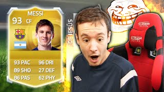 One of TWOSYNC's most viewed videos: MESSI IN A PACK PRANK!!! - FIFA 15