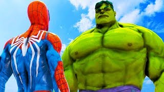 SPIDER-MAN (PS4) VS HULK (THE AVENGERS) - EPIC BATTLE