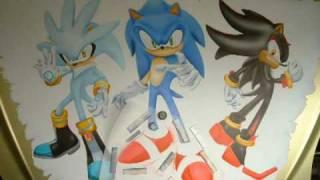 Airbrush Sonic Silver & Shadow (Itasha 痛車 ソニック・ザ・ヘッジホッグ)