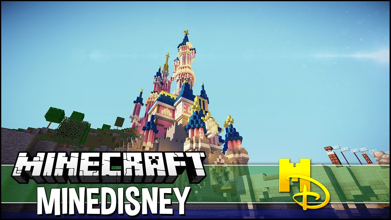 Minecraft Minedisney Visite De Disneyland Paris YouTube