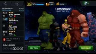 marvel contest of champions act 2 gameplay with 4 star tier juggerrnaut hulk