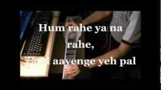 Yaad Aayenge ye pal INSTRUMENTAL Steel Guitar Cover with Lyrics by C. Garrett