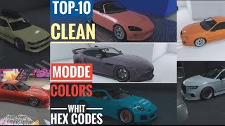 Top 10 Best Modded Crew Colors In GTA 5 Online!! (CLEAN COLORS) whit the new dlc tuner cars
