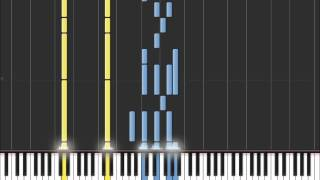 In The Air Tonight (Easy Piano Tutorial) in Synthesia (100% speed)