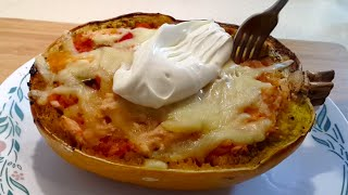 How To Make Chicken Enchilada Stuffed Spaghetti Squash (low Carb / Primal)