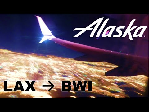 [HD] Full flight: LAX-BWI Redeye on Alaska Airlines