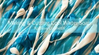 Making & Cutting Cool Water Type Soap