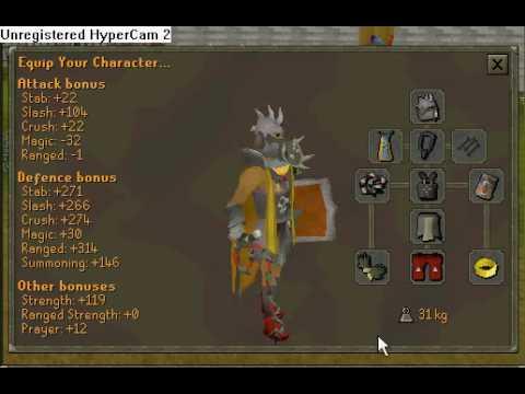Runescape Slayer Helm And Bonus Bandos Armour Youtube