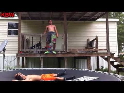 Trampoline Wrestling: KBW- CJ vs. AK 47 #1 Contender Street Fight