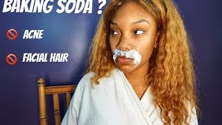 DIY Baking Soda: ACNE & FACIAL HAIR /MOUSTACHE REMOVAL for women
