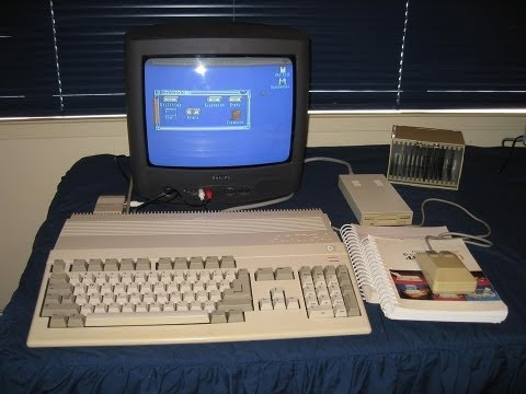 The Commodore Amiga 500: As seen in Tezza's classic computer collection.
