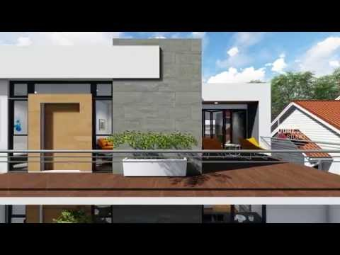 Modern Ghanaian house walkthrough animation