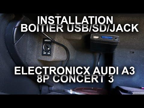Installation du boitier USB/SD/Jack de chez Electronicx sur Audi A3 équipé du Concert 3 12pins