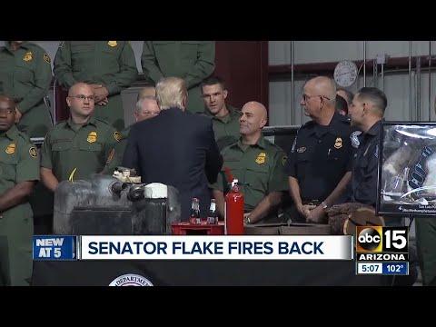 Senator Jeff Flake fires back at Trump