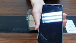 AMAZINGthing iPhone X Full Glass 2018 Anti-Dust Test