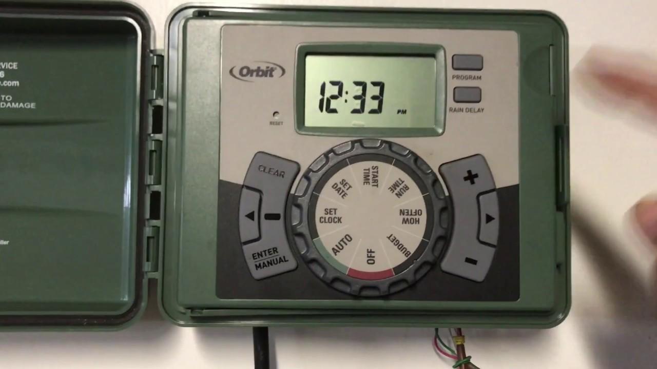 how to program set orbit sprinkler timer days duration time etc orbit sprinkler 57896
