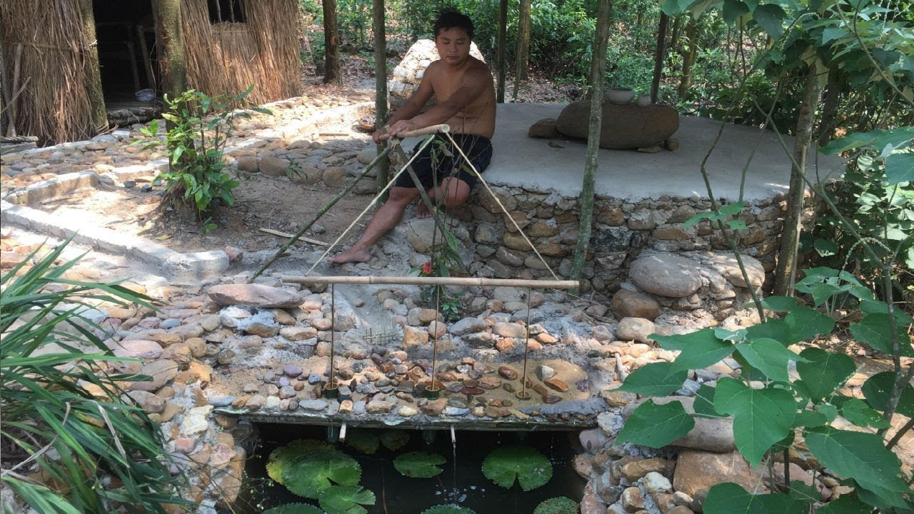 Primitive Life:Filter System for Fish Pond!
