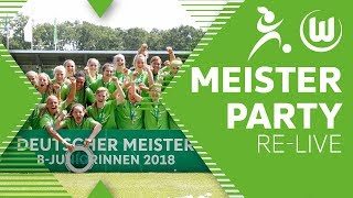 Meisterparty im Stadion - Deutscher Meister 2018   Re-Live   VfL Wolfsburg U17-Juniorinnen