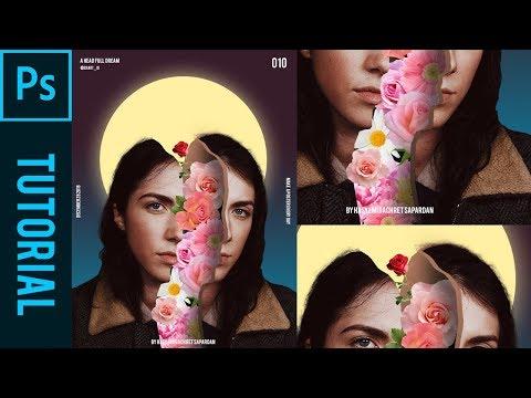 Flower A Head Full Dream Ala Magdiel Lopez - Tutorial Photoshop CC 2019