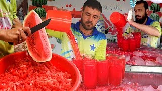 Tarbooz Ka Sharbat | Watermelon Juice in Pakistani Street Food | Karachi Street Drink