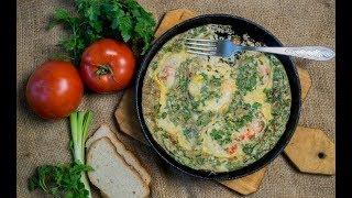 Фритатта с креветками или Омлет в духовке