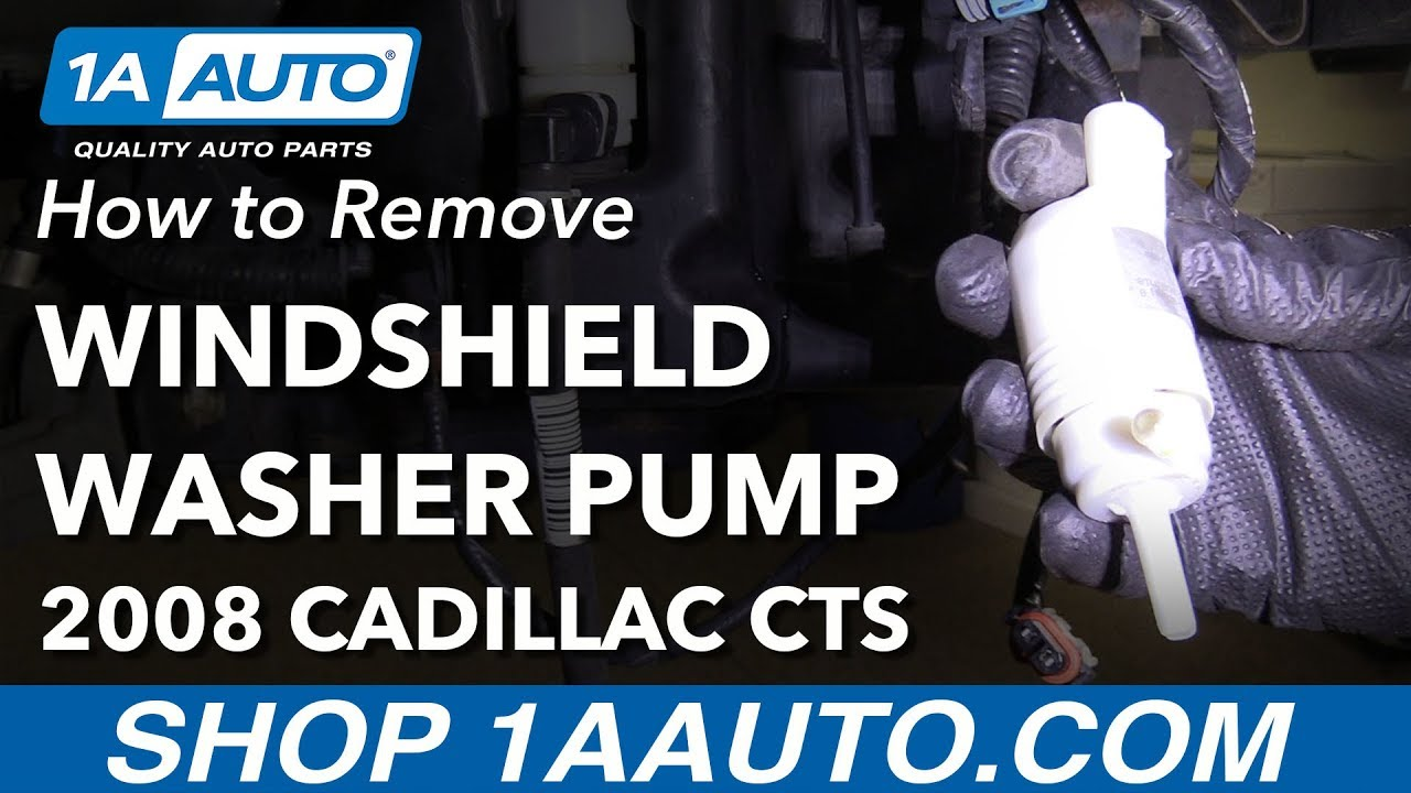 How To Remove Replace Windshield Washer Fluid Pump 2008 Cadillac Cts 07 Escalade Fuse Diagram