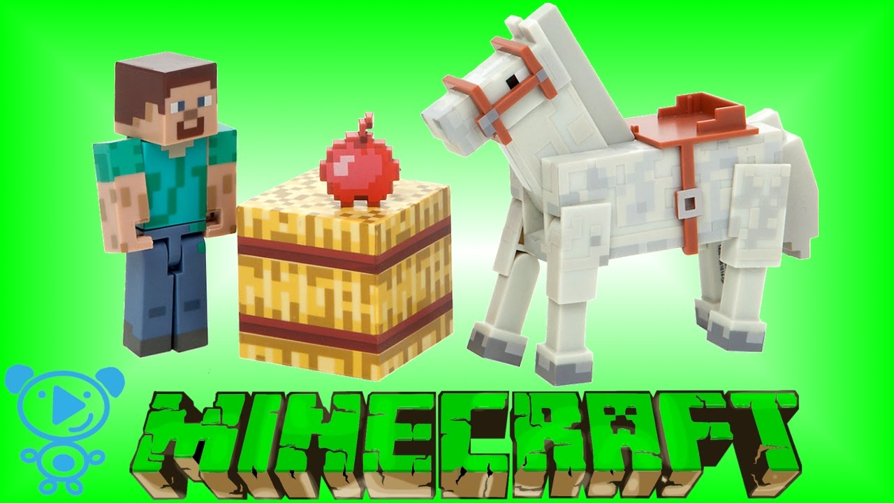 Minecraft Toys Unboxing Steve Enderman Minecraft Toys Review For - Spielaffe mit minecraft