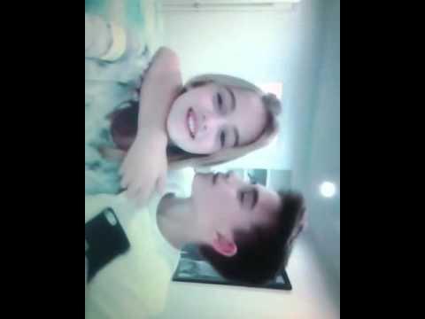 Johnny Orlando kisses his little sister Lauren Orlando