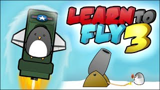 FLYING PENGUINS TRYING TO REACH THE MOON // Learn To Fly 3 Gameplay #1