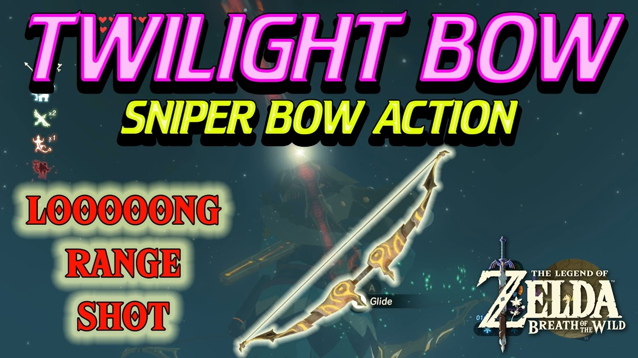 Zelda Breath of the Wild - Twilight Bow Long Range Dinraal shot