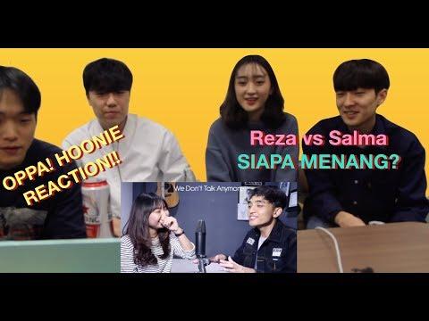 [oppa! HOONIE] REAKSI KOREA Siti Badriah-Lagi Syantik(SING-OFF) Reza Darmawangsa VS Salma