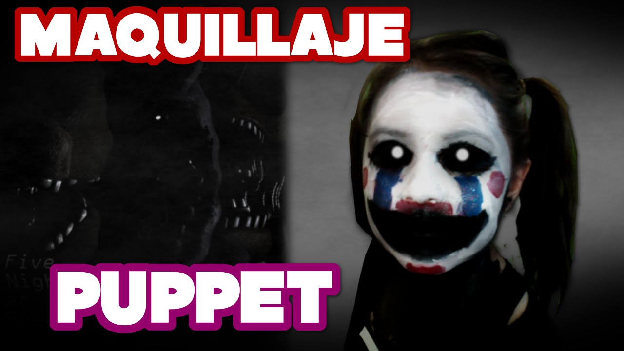 puppet five nights at freddys fnaf maquillaje para halloween makeup tutorial marionette youtube - Puppet Halloween