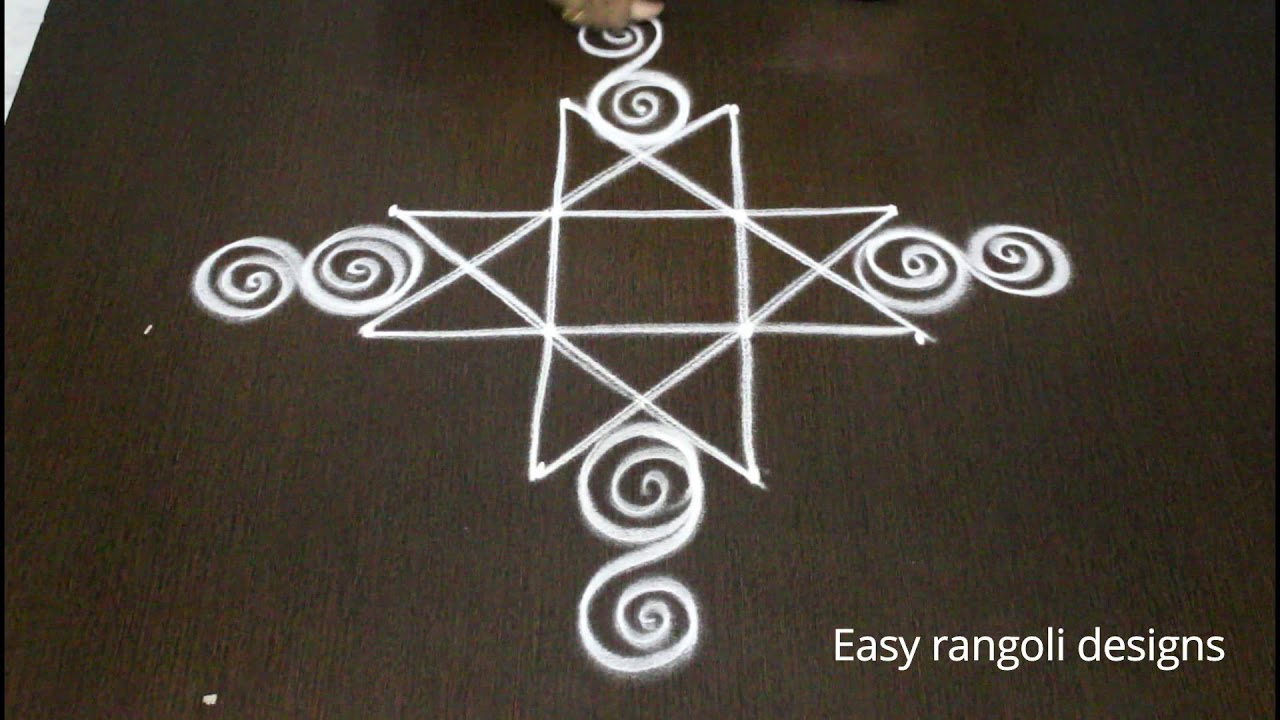 20 Best Rangoli Designs with Dots for Diwali 2015