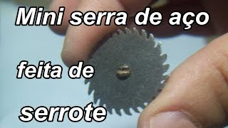 Como fazer uma micro serra circular de 3 cm - parte 1
