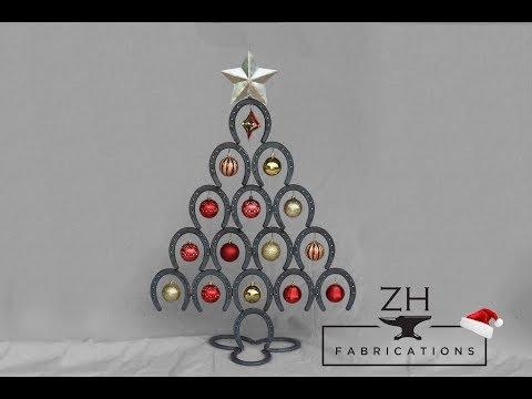 Welded Horseshoe Christmas Tree   Happy Holidays!