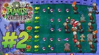 Plants VS Zombies HD - World 2 Walkthrough Gameplay (NO BREACH)