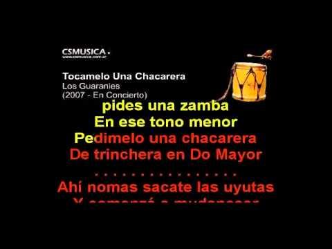Folklore   Los Guaranies   Tocamelo Una Chacarera  Karaoke +3 Semitonos